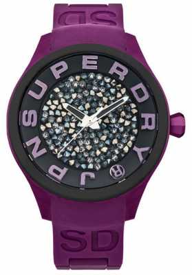 Superdry Ladies Scuba Rocks Stone Set Purple SYL152V
