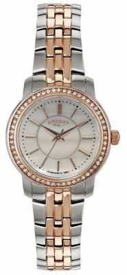 Rotary Womens Rose Gold Two Tone, Crystal, Pearl LB02596/41