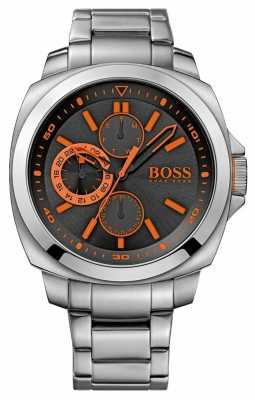 Hugo Boss Orange Black Multi Dial Watch With Orange Accents 1513117