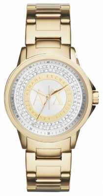 Armani Exchange Womens Urban Gold Plated Crystal Set AX4321
