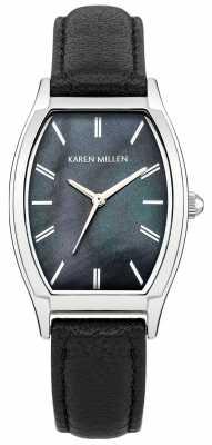 Karen Millen Millen black leather strap watch KM151B