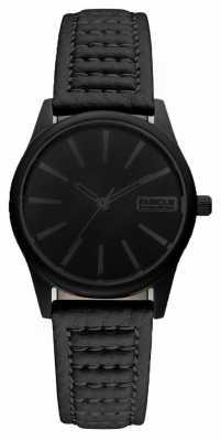 Barbour Ladies Bewick Black Leather Strap Watch BB010BKBK