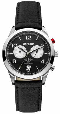 Barbour Mens Redley Black Chronograph Watch BB017SLBK
