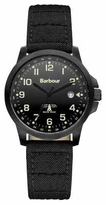 Barbour Mens Swale Black Canvas Strap Watch BB020BKBK