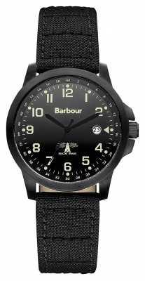Barbour Mens Swale Black Canvas Strap Watch BB020BKBK