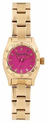 Superdry Ladies Mini Pink Gold Bracelet Watch SYL158PGM