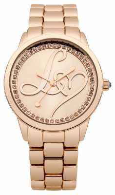 Lipsy Ladies All Rose Gold Bracelet Watch LP287