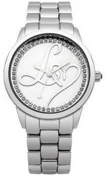 Lipsy Ladies All Silver Bracelet Watch LP295