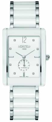 Roamer Womens Ceraline Saphira White Ceramic Watch 690855412960