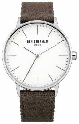 Ben Sherman Mens Brown Cotton Strap Watch WB009GRA