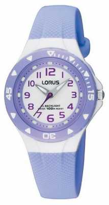 Lorus Lilac Childrens Analogue Watch RRX51CX9