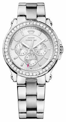 Juicy Couture Womens Pedigree, Steel, Crystal Watch 1901048