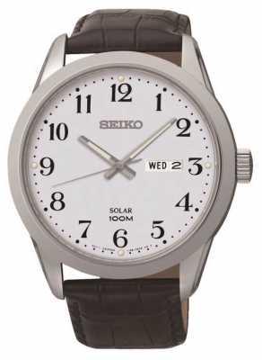 Seiko Mens Solar Powered Watch SNE371P1