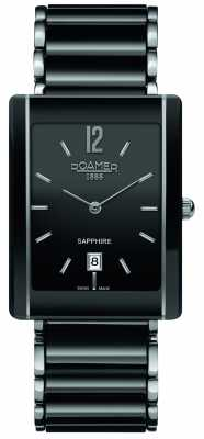 Roamer Ceraline Saphira Square Ceramic Watch 690856415460