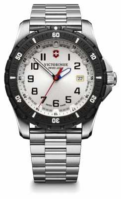 Victorinox Swiss Army Mens Maverick Stainless Steel Black Bezel Watch 241677