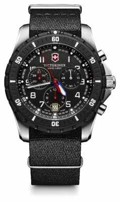 Victorinox Swiss Army Mens Maverick Sport Chronograph Black Dial Canvas Strap 241678.1