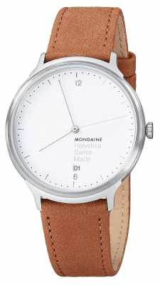 Mondaine Unisex Helvetica Leather Strap Watch MH1.L2210.LG