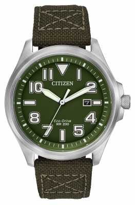Citizen Mens Military Eco-Drive Watch AW1410-16X