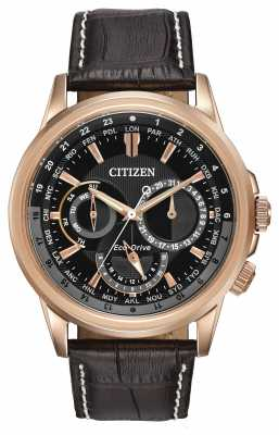 Citizen Mens Calendrier Rose Tone Eco-Drive Chronograph Watch BU2023-04E