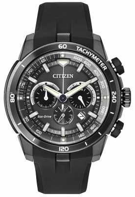 Citizen Mens Ecosphere All Black Eco-Drive Chronograph Watch CA4157-17E
