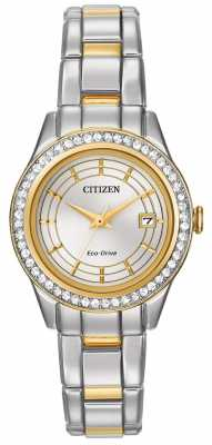 Citizen Eco-Drive Silhouette Crystal Womens Watch FE1124-58A