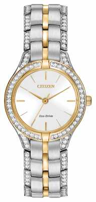 Citizen Womens' Silhouette Crystal Eco-Drive Watch FE2064-52A