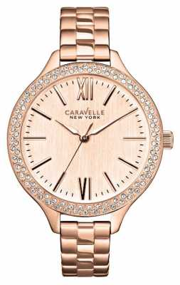 Caravelle New York Ladies' Carla Watch In Rose Gold 44L125
