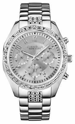 Caravelle New York Ladies' Melissa Silver Steel Chronograph 43L171