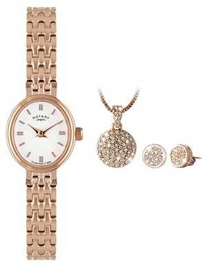 Rotary Ladies Timepieces Gold Plated Watch LB02085/02/SET