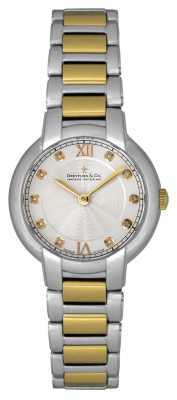 Dreyfuss Womens Two Tone, Stone-Set, Dress Watch DLB00061/D/01