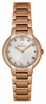 Dreyfuss Ladies 1974 Rose Gold Diamond Dial Watch DLB00063/D/01