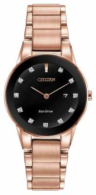 Citizen Womens Axiom Rose Gold Plated Eco-Drive GA1058-59Q