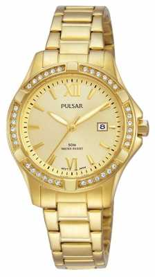 Pulsar Womens Gold Plated Quartz Watch PH7412X1
