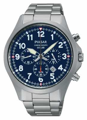 Pulsar Mens Solar Sport Chronograph Watch PX5001X1