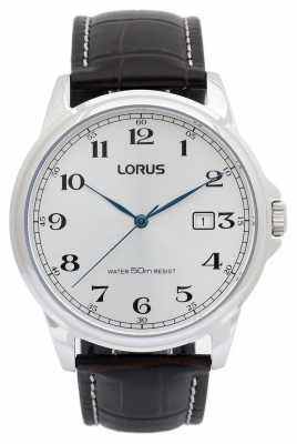 Lorus Mens Leather Strap Watch RS985AX9
