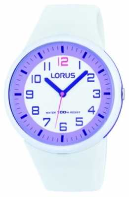 Lorus White Rubber Quartz Analog Watch RRX61DX9