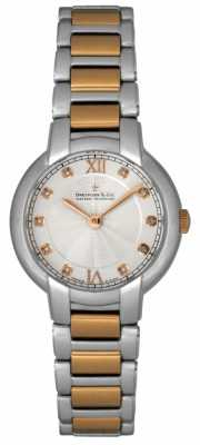 Dreyfuss Ladies Diamond Set Two Tone Watch DLB00062/D/01