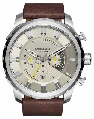 Diesel Stronghold Chronograph Brown Leather DZ4346