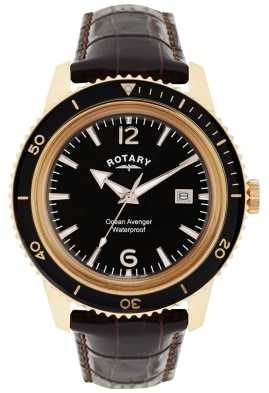 Rotary Ocean Avenger Mens Rose Gold Steel Watch GS02696/04