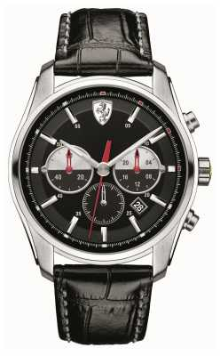 Scuderia Ferrari Mens GTB-C, Black & Steel Watch 0830200