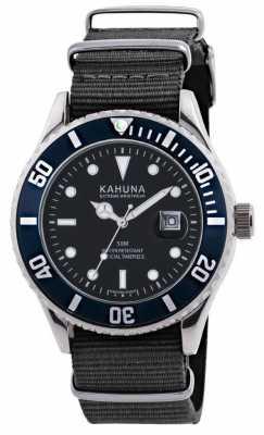 Kahuna Mens Blue Fabric Strap Watch KUS-0111G