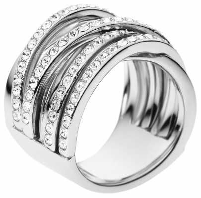 DKNY Stainless Steel Size P Woven Whisper Ring NJ2098040508