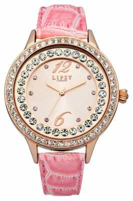 Lipsy Ladies Pink PU Leather Strap Watch LP338