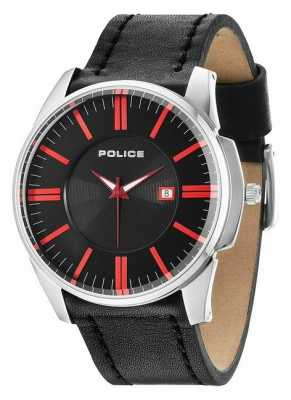 Police Mens gouverneur Black Watch 14384JS/02