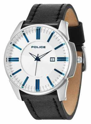 Police Mens gouverneur argent Black Watch 14384JS/04