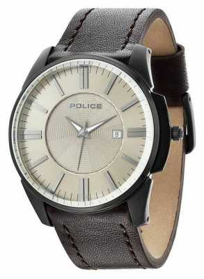 Police Mens Governor Beige Brown Watch 14384JSB/19