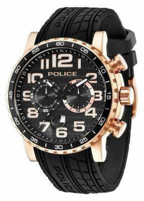Police Mens Powerslide Rose Tone Watch 14443JSR/02P
