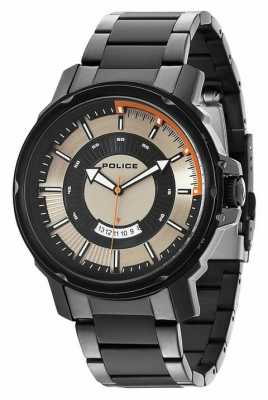 Police Mens Trooper Silver Black Watch 14382JSB/04M