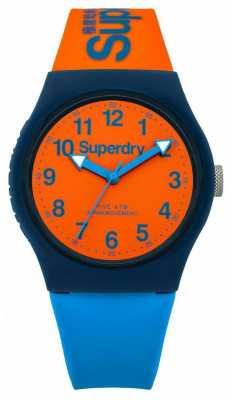 Superdry Urban Blue Orange Silicone Strap Watch SYG164MO