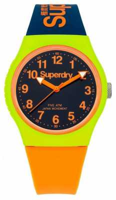 Superdry Urban Navy Orange Silicone Strap Watch SYG164MU